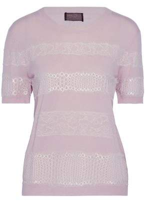 Giambattista Valli Lace-Appliquéd Cashmere Sweater