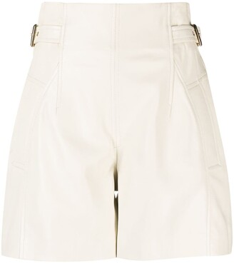 Alberta Ferretti Side-Buckle Tailored Shorts