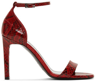 Givenchy Red Python Heeled Sandals
