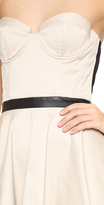 Alice + Olivia Simoes Strapless Bustier Mini Dress