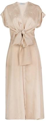 Silvia Tcherassi Aperol Knotted Midi Dress