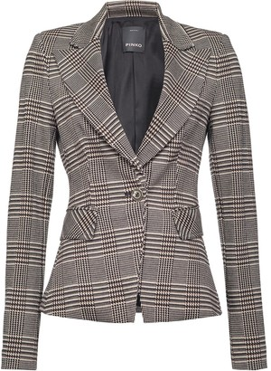 Pinko Checked Long Sleeve Blazer