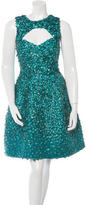 Monique Lhuillier Silk Paillete Dress