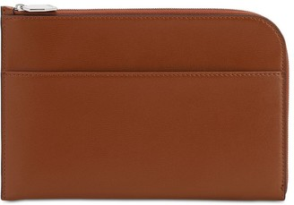 Ganni Smooth Leather Clutch