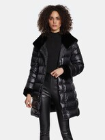 Thumbnail for your product : Dawn Levy Eve Gem Cire Fitted Puffer Coat