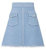 Derek Lam 10 Crosby Knit Denim Mini Skirt