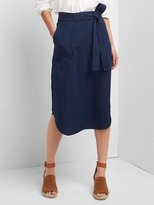 Gap Linen-cotton utility wrap skirt