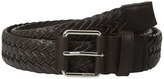 Tumi Leather Braided Belt