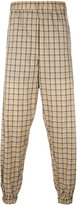 Astrid Andersen - lightweight checked track pants - men - Polyester - M