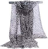 GERINLY Chiffon Scarves Animal Print Leopard Neck Wrap Sheer Scarf
