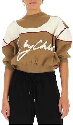 See by Chloe Knitted Cropped Sweater