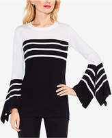 Vince Camuto Handkerchief-Cuff Striped Sweater