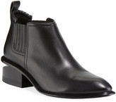 Alexander Wang Kori Low-Heel Leather Booties