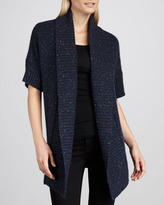 Neiman Marcus Donegal Shawl-Neck Cashmere Cardigan
