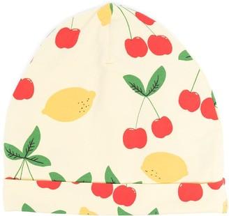 Mini Rodini Lemon And Cherry-Print Beanie