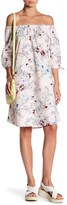 Bobeau Floral Poplin Dress
