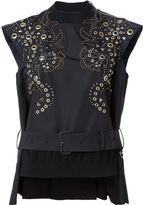 Sacai embellished belted top