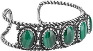American West Sterling Malachite Cuff Bracelet