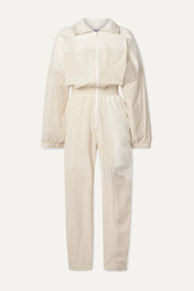 PARADISED Kelsey Paneled Cotton-blend Voile And Twill Jumpsuit - Cream