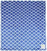 "MyBlankee My Blankee Moroccan Mini Tile Minky Throw Blanket, 52"" X 59"", Blue"