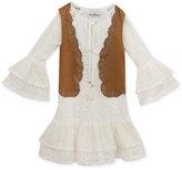 Rare Editions Boho Lace Dress & Vest, Toddler Girls (2T-5T)