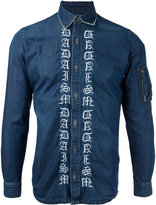 Christian Dada embroidered denim shirt - men - Cotton - 44