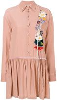 Piccione Piccione Piccione.Piccione floral patch buttoned dress
