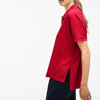 Lacoste Women's Modern Fit Flowing Stretch Cotton Pique Polo