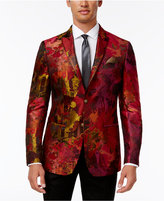 Tallia Men's Big & Tall Slim-Fit Red/Orange Floral Dinner Jacket