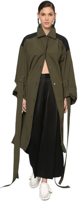 Loewe Oversized Nylon Canvas Trench Coat