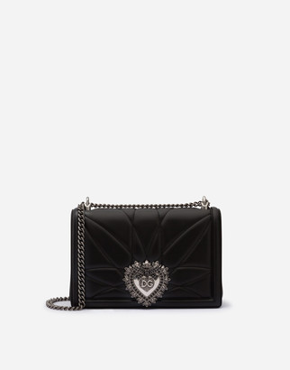 Dolce & Gabbana Large Devotion Crossbody Bag In Quilted Nappa Leather