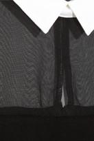 Maje Eponyme chiffon-paneled stretch-jersey mini dress