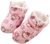 VWU Unisex Baby Thick Warm Cute Animal Monkey Toddler Newborn Velvet Slipper Socks (L, )