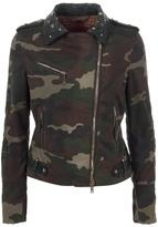 LE SENTIER - Camouflage pattern biker jacket