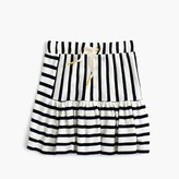 J.Crew Girls' pull-on stripe-panel skirt