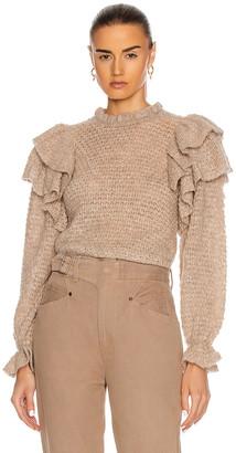 Ulla Johnson Camilla Pullover Sweater in Oatmeal | FWRD
