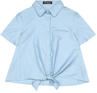 Loro Piana Kids Kerrie cotton-chambray shirt