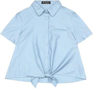 Loro Piana Kids Kerrie cotton-chambray shirt