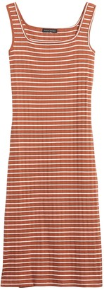 Banana Republic Ribbed Square-Neck Dress