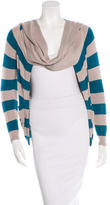 Opening Ceremony Striped Long Sleeve Cardigan