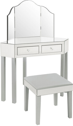 INSPIRED HOME Set Callista Mirrored 3-Piece Vanity Set