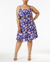 Soprano Trendy Plus Size Ruffled A-Line Dress