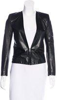 Bouchra Jarrar Open-Front Leather Jacket