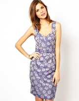 Fitted Pencil Dress in Jacquard