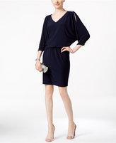 MSK Rhinestone Cold-Shoulder Blouson Dress