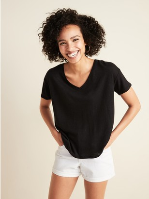 Old Navy Loose-Fit Linen-Blend Easy Tee for Women