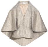 DELPOZO Metallic Cape Jacket