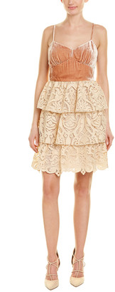 Anna Sui Baroque Silk-Blend Cocktail Dress