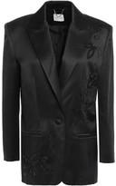 Magda Butrym Embellished Silk And Wool-blend Satin Blazer