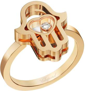 Chopard Rose Gold Happy Diamonds Good Luck Charms Ring